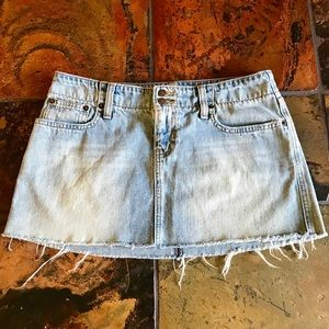 Abercrombie & Fitch Denim Cut Off Skirt 4